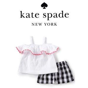 Kate Spade ♠️ gingham short Set